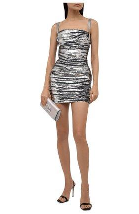 Женское платье с пайетками DOLCE & GABBANA серебряного цвета, арт. F6R6ZZ/FLSDJ | Фото 2 (Материал внешний: Синтетический материал; Материал подклада: Шелк; Длина Ж (юбки, платья, шорты): Мини; Женское Кросс-КТ: Платье-одежда, платье-футляр; Случай: Коктейльный; Стили: Гламурный)