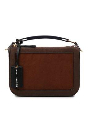 Женская сумка the box 23 MARC JACOBS (THE) коричневого цвета, арт. H124L01FA21 | Фото 1 (Материал: Натуральная кожа; Ремень/цепочка: На ремешке; Размер: small; Сумки-технические: Сумки top-handle, Сумки через плечо)