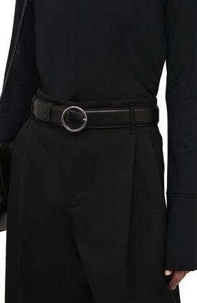 Женский кожаный ремень DRIES VAN NOTEN черного цвета, арт. 212-011405-101 | Фото 2