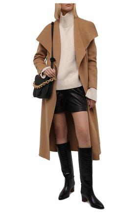 Женские кожаные сапоги POLO RALPH LAUREN черного цвета, арт. 818846066 | Фото 2 (Каблук высота: Низкий; Подошва: Плоская; Материал внутренний: Натуральная кожа; Высота голенища: Средние; Каблук тип: Устойчивый)