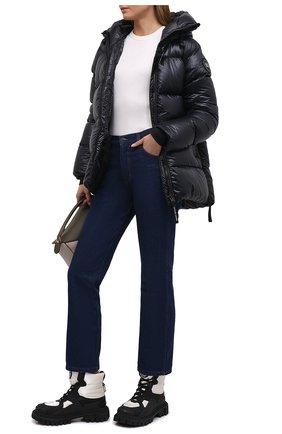 Женские комбинированные ботинки hi trekking DOLCE & GABBANA черно-белого цвета, арт. CT0756/AQ065 | Фото 2 (Каблук высота: Низкий; Материал внутренний: Натуральная кожа; Материал внешний: Текстиль; Подошва: Платформа; Женское Кросс-КТ: Зимние ботинки)
