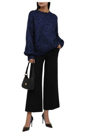 Женские кожаные туфли cardinale DOLCE & GABBANA фиолетового цвета, арт. CD1657/AQ559 | Фото 2 (Подошва: Плоская; Материал внутренний: Натуральная кожа; Каблук высота: Высокий; Каблук тип: Шпилька)