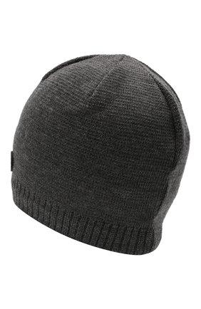 Мужская шапка BOGNER серого цвета, арт. 98656125 | Фото 2 (Материал: Шерсть, Синтетический материал, Текстиль; Кросс-КТ: Трикотаж)