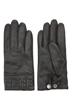 Мужские кожаные перчатки BOSS черного цвета, арт. 50457532 | Фото 2 (Мужское Кросс-КТ: Кожа и замша)