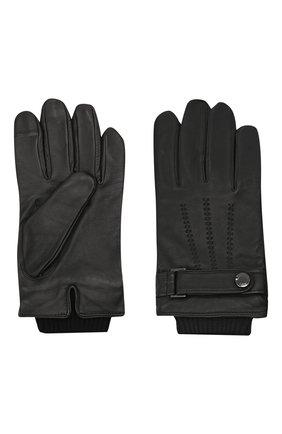 Мужские кожаные перчатки BOSS черного цвета, арт. 50457508 | Фото 2 (Мужское Кросс-КТ: Кожа и замша)