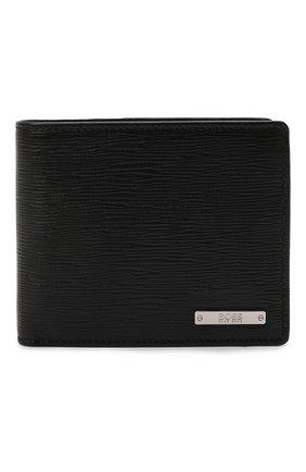 Мужской кожаное портмоне BOSS черного цвета, арт. 50460308 | Фото 1