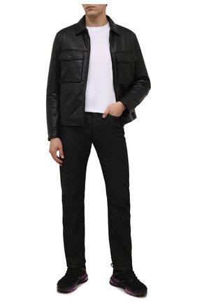 Мужская кожаная куртка BOSS черного цвета, арт. 50456305 | Фото 2 (Рукава: Длинные; Длина (верхняя одежда): Короткие; Мужское Кросс-КТ: Кожа и замша; Кросс-КТ: Куртка; Стили: Кэжуэл)