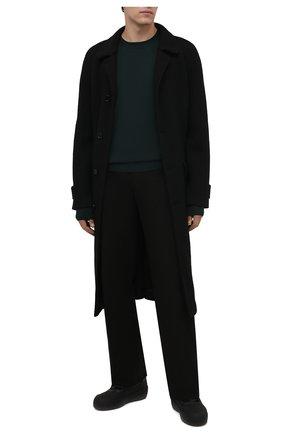 Мужские комбинированные ботинки croker BALLY черного цвета, арт. CR0KER-T/30 | Фото 2 (Материал утеплителя: Натуральный мех; Подошва: Массивная; Мужское Кросс-КТ: Ботинки-обувь, зимние ботинки)