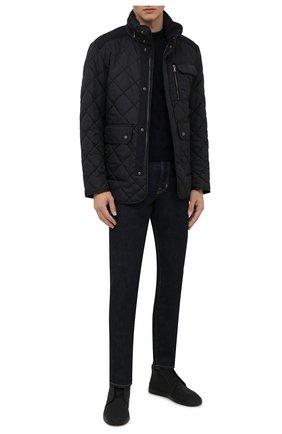Мужские текстильные ботинки ZEGNA COUTURE темно-серого цвета, арт. A5075X-LHUTE | Фото 2 (Материал внешний: Текстиль; Подошва: Массивная; Материал внутренний: Натуральная кожа, Текстиль; Мужское Кросс-КТ: Ботинки-обувь)