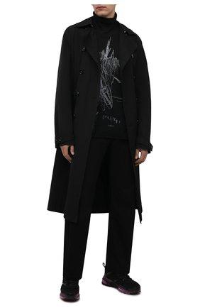 Мужской шерстяная водолазка ISABEL BENENATO черного цвета, арт. UK42PF21 | Фото 2 (Материал внешний: Шерсть; Рукава: Длинные; Длина (для топов): Стандартные; Мужское Кросс-КТ: Водолазка-одежда; Принт: С принтом; Стили: Минимализм)