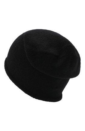 Мужская шапка ISABEL BENENATO черного цвета, арт. UK26F21 | Фото 2 (Материал: Шерсть, Синтетический материал, Текстиль; Кросс-КТ: Трикотаж)