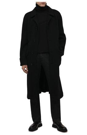 Мужской хлопковая водолазка ISABEL BENENATO черного цвета, арт. UJ03F21 | Фото 2 (Длина (для топов): Стандартные; Рукава: Длинные; Материал внешний: Хлопок; Мужское Кросс-КТ: Водолазка-одежда; Принт: Без принта; Стили: Минимализм)