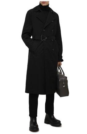 Мужские кожаные сапоги roman stud VALENTINO черного цвета, арт. WY0S0E82/YYB | Фото 2 (Подошва: Массивная; Материал внутренний: Натуральная кожа; Каблук высота: Высокий; Мужское Кросс-КТ: Сапоги-обувь)