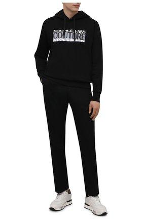 Мужские кожаные кроссовки SANTONI кремвого цвета, арт. MSAM21373BGNGKIGI55 | Фото 2 (Подошва: Массивная; Материал внутренний: Натуральная кожа; Стили: Классический)