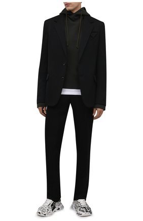 Мужские кожаные кроссовки daymaster DOLCE & GABBANA белого цвета, арт. CS1791/A0773 | Фото 2 (Подошва: Массивная; Материал внутренний: Натуральная кожа; Стили: Гранж)