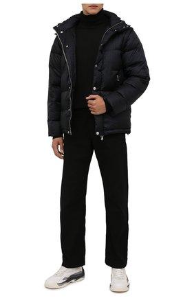 Мужская пуховая куртка BALMAIN черного цвета, арт. WH1TP035/X167   Фото 2 (Рукава: Длинные; Материал подклада: Синтетический материал; Материал внешний: Синтетический материал; Материал утеплителя: Пух и перо; Длина (верхняя одежда): Короткие; Кросс-КТ: Куртка; Мужское Кросс-КТ: пуховик-короткий; Стили: Кэжуэл)