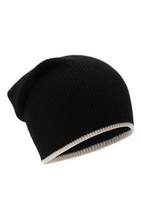 Мужская шапка из шерсти и кашемира BALMAIN черного цвета, арт. WH0XC000/K065   Фото 1 (Кросс-КТ: Трикотаж; Материал: Кашемир, Шерсть)