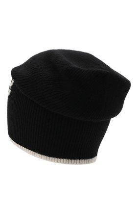 Мужская шапка из шерсти и кашемира BALMAIN черного цвета, арт. WH0XC000/K065   Фото 2 (Кросс-КТ: Трикотаж; Материал: Кашемир, Шерсть)