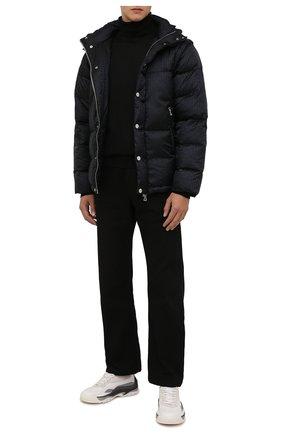 Мужская пуховая куртка BALMAIN черного цвета, арт. WH1TP035/X167   Фото 2 (Рукава: Длинные; Материал внешний: Синтетический материал; Длина (верхняя одежда): Короткие; Материал утеплителя: Пух и перо; Материал подклада: Синтетический материал; Кросс-КТ: Куртка; Мужское Кросс-КТ: пуховик-короткий; Стили: Кэжуэл)