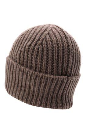 Мужская кашемировая шапка GIORGIO ARMANI бежевого цвета, арт. 747367/1A764 | Фото 2 (Материал: Шерсть, Кашемир; Кросс-КТ: Трикотаж)