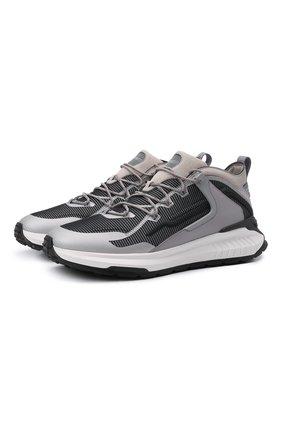 Мужские комбинированные кроссовки TOD'S серого цвета, арт. XXM07I0EV20QN1 | Фото 1 (Материал внутренний: Текстиль; Материал внешний: Текстиль; Подошва: Массивная; Стили: Гранж)