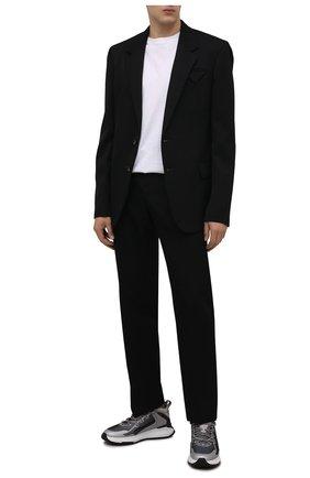 Мужские комбинированные кроссовки TOD'S серого цвета, арт. XXM07I0EV20QN1 | Фото 2 (Материал внутренний: Текстиль; Материал внешний: Текстиль; Подошва: Массивная; Стили: Гранж)