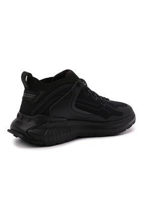 Мужские комбинированные кроссовки TOD'S черного цвета, арт. XXM07I0EV20QN1 | Фото 4 (Материал внешний: Текстиль; Стили: Гранж; Материал внутренний: Текстиль; Подошва: Массивная)