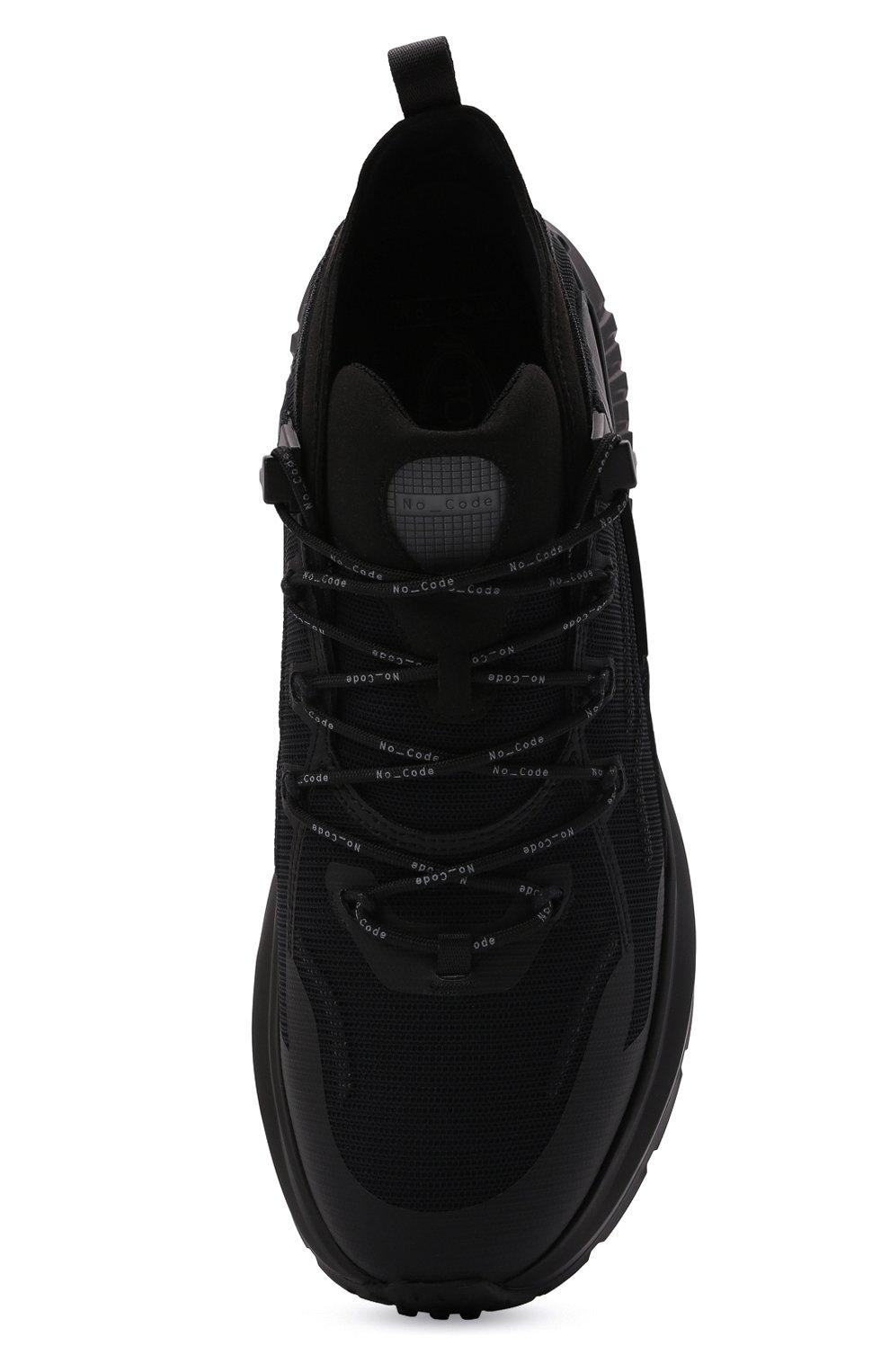 Мужские комбинированные кроссовки TOD'S черного цвета, арт. XXM07I0EV20QN1 | Фото 5 (Материал внешний: Текстиль; Стили: Гранж; Материал внутренний: Текстиль; Подошва: Массивная)