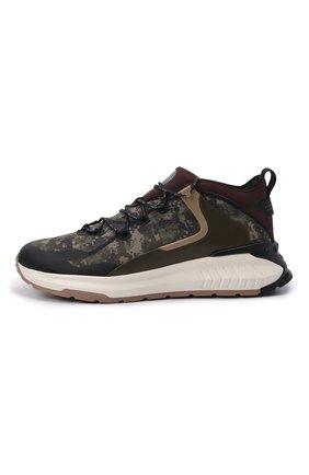 Мужские комбинированные кроссовки no code TOD'S хаки цвета, арт. XXM07I0EW20QNB | Фото 3 (Материал внешний: Текстиль; Стили: Гранж; Материал внутренний: Текстиль; Подошва: Массивная)