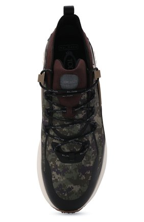 Мужские комбинированные кроссовки no code TOD'S хаки цвета, арт. XXM07I0EW20QNB | Фото 5 (Материал внешний: Текстиль; Стили: Гранж; Материал внутренний: Текстиль; Подошва: Массивная)