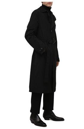 Мужские кожаные казаки TOD'S черного цвета, арт. XXM08H00P20QGL | Фото 2 (Материал внутренний: Натуральная кожа; Подошва: Плоская; Материал внешний: Текстиль; Мужское Кросс-КТ: Сапоги-обувь, Казаки-обувь)