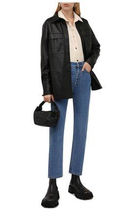 Женские кожаные ботинки tractor BALENCIAGA черного цвета, арт. 671003/WBCP1 | Фото 2 (Каблук высота: Средний; Материал внутренний: Натуральная кожа; Подошва: Платформа; Женское Кросс-КТ: Челси-ботинки)