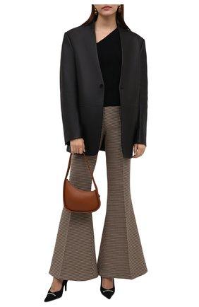 Женские текстильные туфли knife BALENCIAGA черного цвета, арт. 671123/W2CW1 | Фото 2 (Материал внешний: Текстиль; Материал внутренний: Натуральная кожа; Подошва: Плоская; Каблук высота: Высокий; Каблук тип: Шпилька)