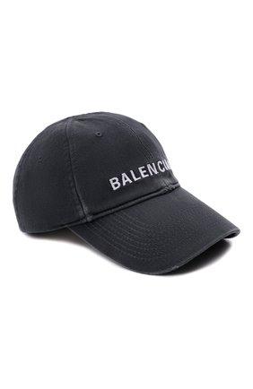Женская хлопковая бейсболка BALENCIAGA серого цвета, арт. 673319/410B2 | Фото 1 (Материал: Хлопок, Текстиль)