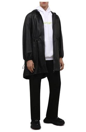 Мужские кроссовки triple s BALENCIAGA черного цвета, арт. 534217/W2CA1 | Фото 2 (Материал внутренний: Текстиль; Материал внешний: Экокожа, Текстиль; Стили: Гранж; Подошва: Массивная)