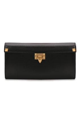 Женские кожаный кошелек VALENTINO черного цвета, арт. WW0P0W68/XVD | Фото 1