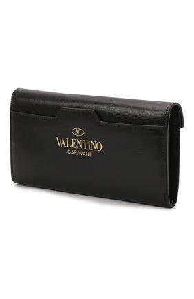 Женские кожаный кошелек VALENTINO черного цвета, арт. WW0P0W68/XVD | Фото 2