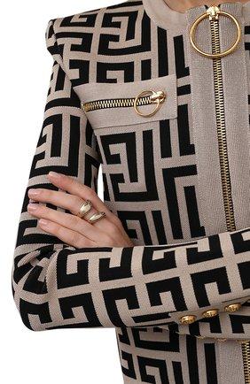 Женское кольцо kiss CHLOÉ золотого цвета, арт. CHC21AFR89CB7 | Фото 2 (Материал: Металл)
