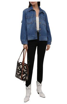 Женские кожаные ботильоны dallas KHAITE белого цвета, арт. F1010-723/DALLAS | Фото 2 (Материал внутренний: Натуральная кожа; Подошва: Платформа; Каблук высота: Средний; Каблук тип: Kitten heel)
