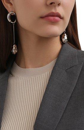Женские серьги darcey CHLOÉ серебряного цвета, арт. CHC21AFE32CB7   Фото 2 (Материал: Металл)