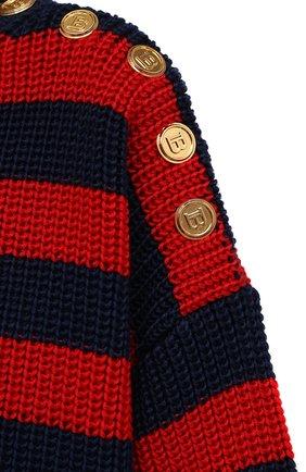 Женское платье BALMAIN разноцветного цвета, арт. WF0RF020/K339   Фото 5 (Материал внешний: Шерсть, Лиоцелл; Рукава: Длинные; Стили: Гламурный; Длина Ж (юбки, платья, шорты): Мини; Случай: Повседневный; Кросс-КТ: Трикотаж; Женское Кросс-КТ: Платье-одежда)