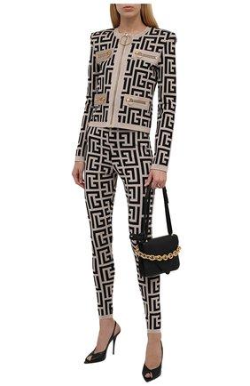 Женский кардиган из вискозы balmain x rossignol BALMAIN черно-белого цвета, арт. WF2SK035/K338   Фото 2 (Материал внешний: Вискоза; Рукава: Длинные; Длина (для топов): Стандартные; Стили: Гламурный; Кросс-КТ: Трикотаж; Женское Кросс-КТ: Кардиган-одежда)