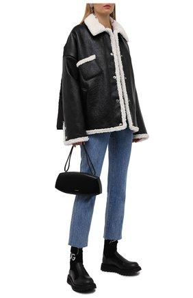 Женские комбинированные ботинки bernini DOLCE & GABBANA черного цвета, арт. CT0835/AQ589 | Фото 2 (Материал внешний: Текстиль; Материал внутренний: Натуральная кожа; Подошва: Платформа; Каблук тип: Устойчивый; Каблук высота: Низкий)