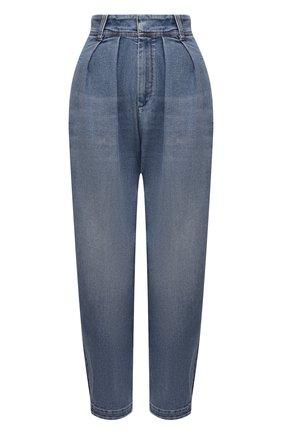 Женские джинсы BRUNELLO CUCINELLI голубого цвета, арт. MH186P5662 | Фото 1 (Материал внешний: Хлопок; Длина (брюки, джинсы): Стандартные; Стили: Кэжуэл; Кросс-КТ: Деним; Силуэт Ж (брюки и джинсы): Прямые)