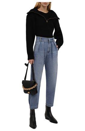 Женские джинсы BRUNELLO CUCINELLI голубого цвета, арт. MH186P5662 | Фото 2 (Материал внешний: Хлопок; Длина (брюки, джинсы): Стандартные; Стили: Кэжуэл; Кросс-КТ: Деним; Силуэт Ж (брюки и джинсы): Прямые)