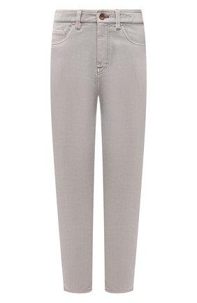Женские джинсы BRUNELLO CUCINELLI светло-серого цвета, арт. M293PP5534 | Фото 1 (Материал внешний: Хлопок; Стили: Кэжуэл; Кросс-КТ: Деним; Силуэт Ж (брюки и джинсы): Слим; Длина (брюки, джинсы): Стандартные)