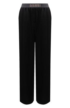 Женские брюки BRUNELLO CUCINELLI черного цвета, арт. M0H38FD189 | Фото 1 (Материал внешний: Вискоза, Синтетический материал; Стили: Кэжуэл; Женское Кросс-КТ: Брюки-одежда; Силуэт Ж (брюки и джинсы): Широкие; Длина (брюки, джинсы): Стандартные)