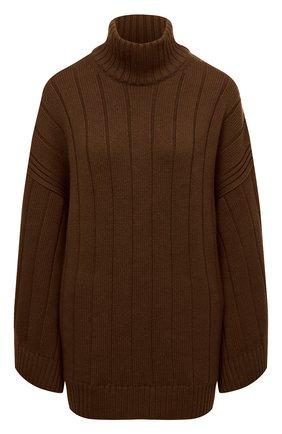 Женская кашемировое пончо LORO PIANA коричневого цвета, арт. FAL8388 | Фото 1 (Материал внешний: Шерсть, Кашемир; Стили: Кэжуэл; Кросс-КТ: Трикотаж; Длина (верхняя одежда): Короткие)
