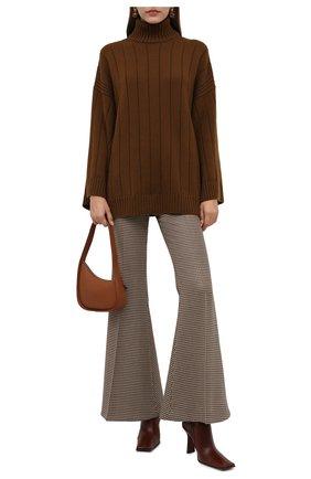 Женская кашемировое пончо LORO PIANA коричневого цвета, арт. FAL8388 | Фото 2 (Материал внешний: Шерсть, Кашемир; Стили: Кэжуэл; Кросс-КТ: Трикотаж; Длина (верхняя одежда): Короткие)