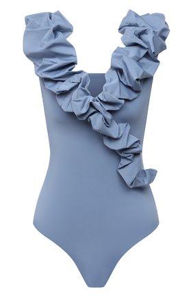 Женский слитный купальник MAYGEL CORONEL голубого цвета, арт. BD-085 | Фото 1 (Длина Ж (юбки, платья, шорты): Мини; Материал внешний: Синтетический материал; Женское Кросс-КТ: Слитные купальники)